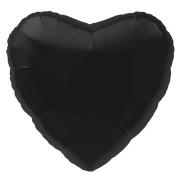 """Сердце, 19"""", Пастель Black (Черный), фольгированный шар"""