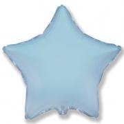 """Звезда, 18"""", светло-голубой, фольгированный шар"""