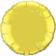 """Круг, 18"""", золото, фольгированный шар"""