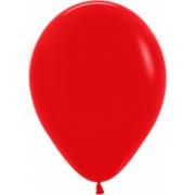 """Шар, 12"""" - 30 см, красный, пастель, латексный"""