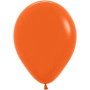 """Шар, 12"""" - 30 см, оранжевый, пастель, латексный"""