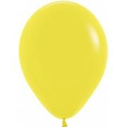"""Шар, 12"""" - 30 см, желтый, пастель, латексный"""
