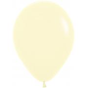 """Шар, 12"""" - 30 см, светло-желтый, макарунс, пастель, латексный"""