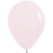 """Шар, 12"""" - 30 см, нежно-розовый, макарунс, пастель, латексный"""