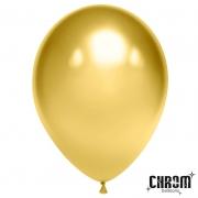 """Шар, 12"""" - 30 см, золото, хром, латексный"""