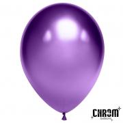 """Шар, 12"""" - 30 см, фиолетовый, хром, латексный"""