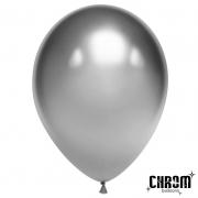 """Шар, 12"""" - 30 см, серебро, хром, латексный"""