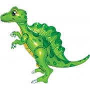 Динозавр Спинозавр, Зеленый, ходячая фигура, фольгированный шар