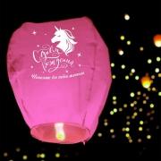 Фонарик желаний «Исполню все твои мечты» купол, розовый