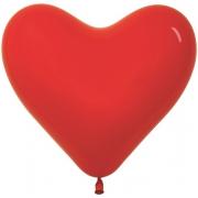 """Сердце, 12"""" - 30 см, красный, пастель, латексный"""