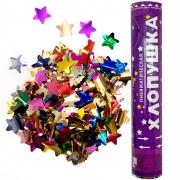 Пневмохлопушка металлизированные звезды, Ассорти, 30см