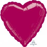 """Сердце, 19"""", Металлик Burgundy (бургундия), фольгированный шар"""