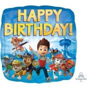 Happy Birthday Щенячий патруль квадрат, фольгированный шар