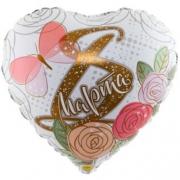 8 МАРТА Розы, фольгированный шар
