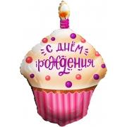 Капкейк на День Рождения, фольгированный шар