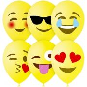 """Шар """"Эмодзи Смайл"""", 30 см, желтый, 1ст.,  пастель, латексный"""