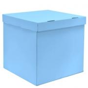 Коробка пустая, голубая