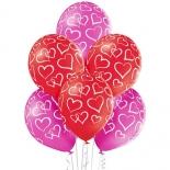 Шар Сердца мелом, 35 см, ассорти, пастель, латексный