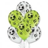 Шар Мяч футбольный, 35 см, ассорти, пастель, латексный