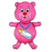Медвежонок девочка, фольгированный шар