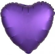 Сердце Сатин фиолетовый/Purple 46 см