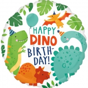 Круг Happy birthday! Вечеринка динозавров 45 см