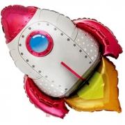Ракета красная, фольгированный шар