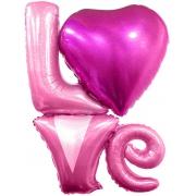 LOVE надпись, фольгированный шар