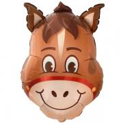 Лошадь голова, фольгированный шар