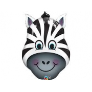 Зебра голова, фольгированный шар
