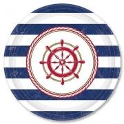 Тарелка бумажная  малая Морская