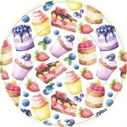 Тарелка бумажная  малая Вкусняшки