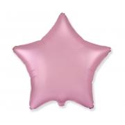 """Звезда, 18"""", Звезда Сатин розовый, фольгированный шар"""