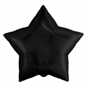 """Звезда, 18"""", Звезда Сатин черный, фольгированный шар"""