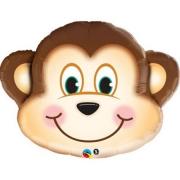 Мартышка голова, фольгированный шар