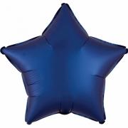 """Звезда, 18"""", Звезда Сатин синий, фольгированный шар"""