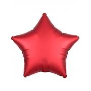 """Звезда, 18"""", Звезда Сатин красный, фольгированный шар"""