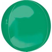 """Сфера, 16"""", Металлик Green, фольгированный шар"""