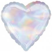 """Сердце, 18"""", Перламутр, Iridescent. фольгированный шар"""