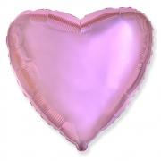"""Сердце, 18"""", Звезда Сатин розовый, фольгированный шар"""