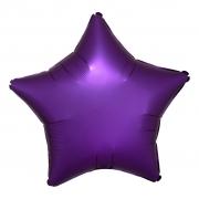 """Звезда, 18"""", Звезда Сатин фиолетовый, фольгированный шар"""