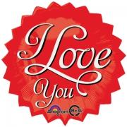 Звездочка I Love You, фольгированный шар
