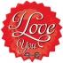 Звездочка I Love You, гелиевый, фольгированный шар