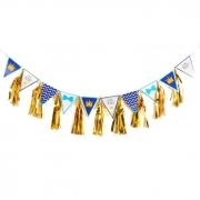 Гирлянда с золотой тишью, Little Prince, фольга, текстиль