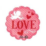 Купидон Love, фольгированный шар