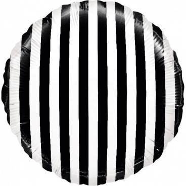 Круг Полосы, черный белый