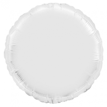 """Круг, 18"""", белый, фольгированный шар"""