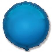 """Круг, 18"""", Металлик синий, фольгированный шар"""