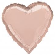 """Сердце, 18"""", Металлик Rose Gold (розовое золото), фольгированный шар"""