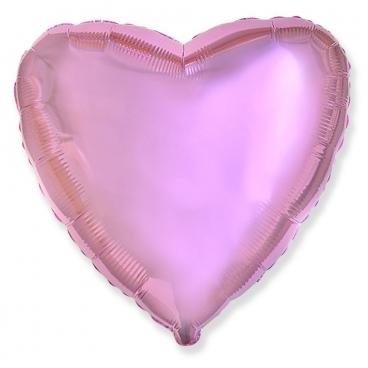 """Сердце, 18"""", Металлик Pink (розовый), фольгированный шар"""